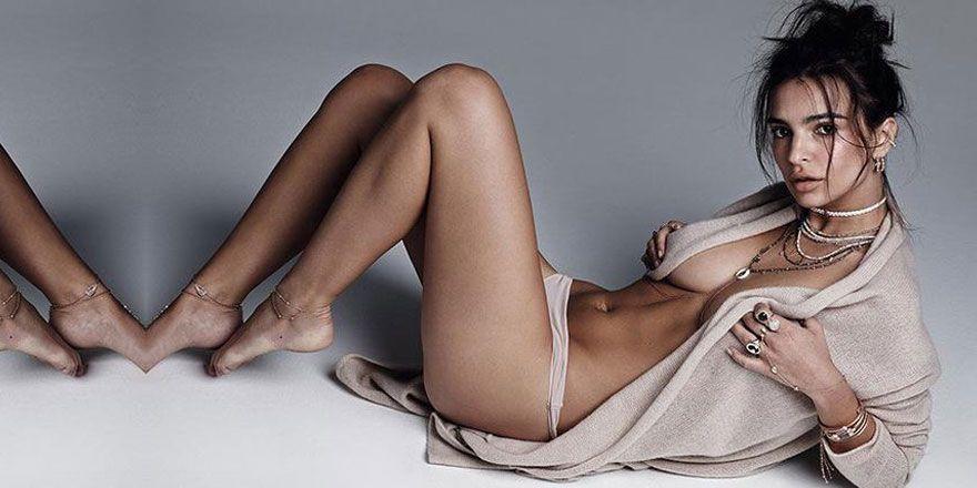 Emily Ratajkowski'den üstsüz pozlar