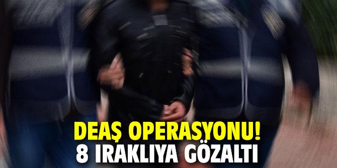 DEAŞ operasyonu! 8 Iraklıya gözaltı