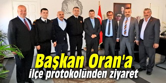 Başkan Oran'a ilçe protokolünden ziyaret