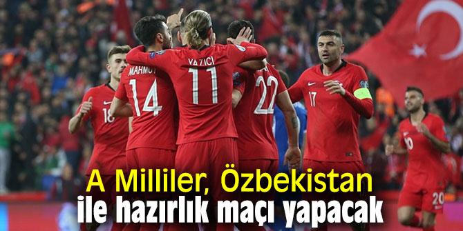A Milliler, Özbekistan ile hazırlık maçı yapacak