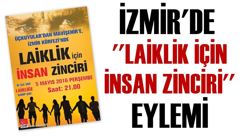 İzmir'de Laiklik İçin İnsan Zinciri Eylemi