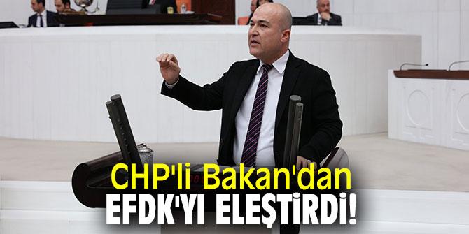 CHP'li Bakan'dan EFDK'yı eleştirdi!