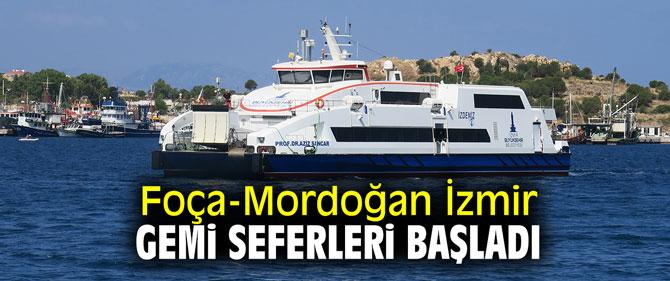 Foça-Mordoğan İzmir gemi seferleri başladı