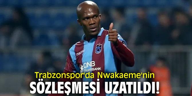Trabzonspor'da Nwakaeme'nin sözleşmesi uzatıldı!