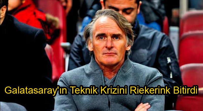Galatasaray'ın Teknik Krizini Riekerink Bitirdi