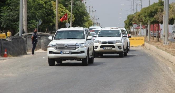 Askeri yetkililer, ABD'li heyetle görüşmek için Akçakale'de