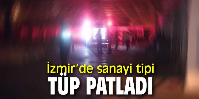 İzmir'de tüp patladı!