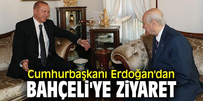Cumhurbaşkanı Recep Tayyip Erdoğan'dan Bahçeli'ye ziyaret