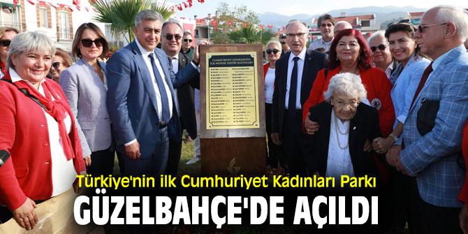 'Cumhuriyet Kadınları Parkı'nın açılışı yapıldı