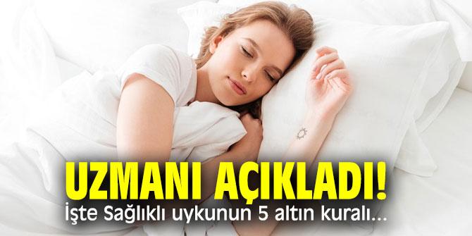 İşte Sağlıklı uykunun 5 altın kuralı...