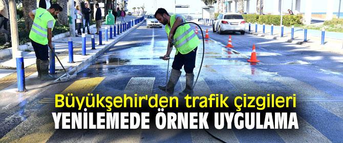Büyükşehir'den trafik çizgilerini yeniliyor