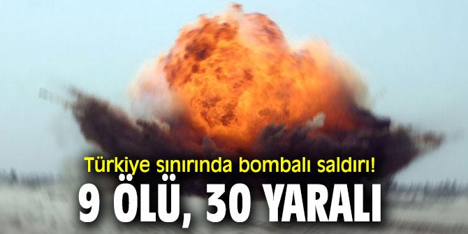 Sınırda bombalı saldırı!