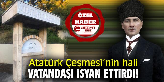 Atatürk Çeşmesi'nin hali vatandaşı isyan ettirdi!!
