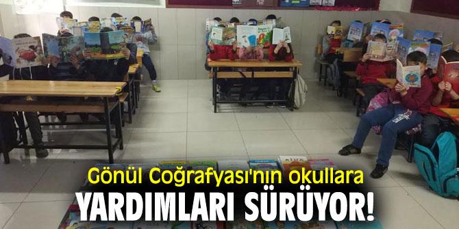 Gönül Coğrafyası'nın okullara yardımları sürüyor!
