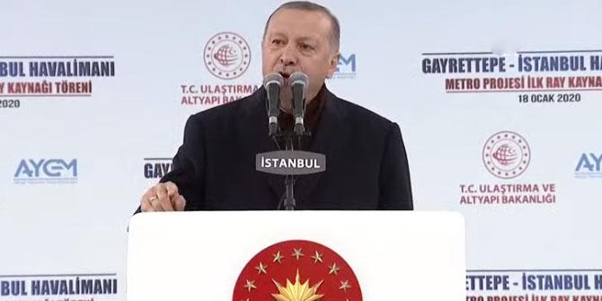 Cumhurbaşkanı Erdoğan'dan flaş İstanbul Havalimanı açıklaması!