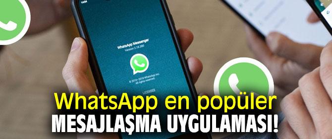 WhatsApp en popüler mesajlaşma uygulaması!