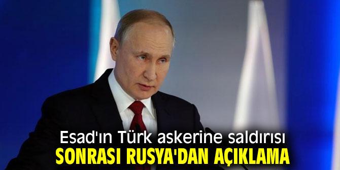 Esad'ın Türk askerine saldırısı sonrası Rusya'dan açıklama