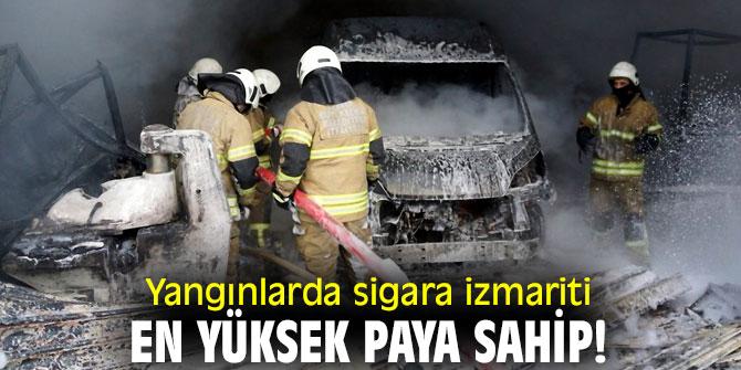 Yangınlarda sigara izmariti en yüksek paya sahip!