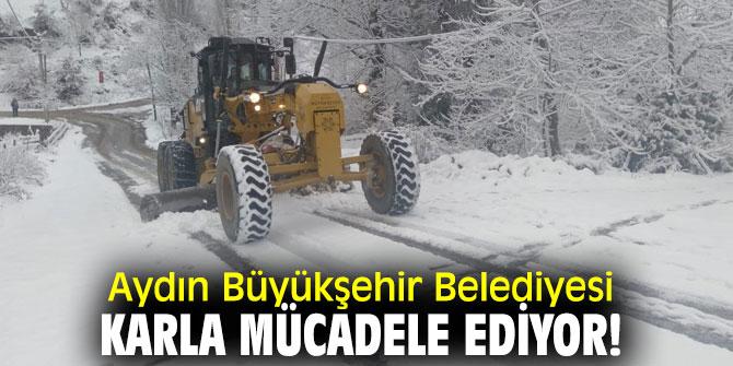 Aydın'da karla mücadele sürüyor!
