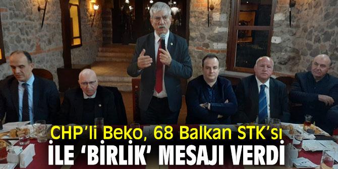 CHP'li Beko, Balkan STK'ları ile bir araya geldi!