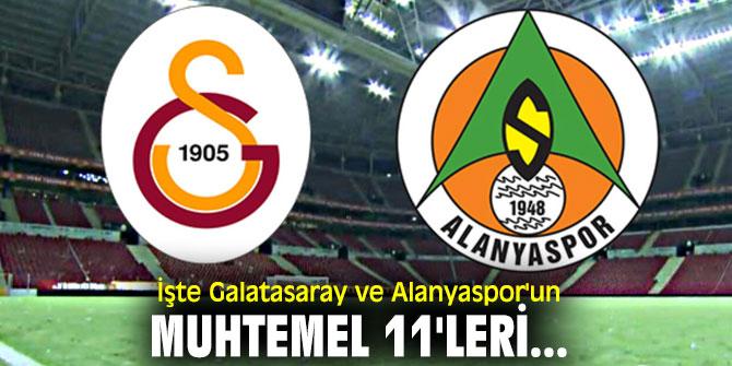 İşte Galatasaray ve Alanyaspor'un muhtemel 11'leri...