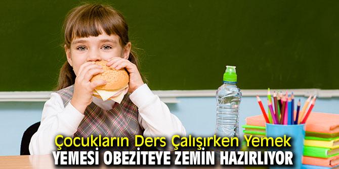 Dikkat! Ders çalışırken yemek yemek obeziteye neden oluyor