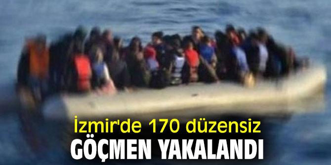 İzmir'de düzensiz göçmen operasyonu!