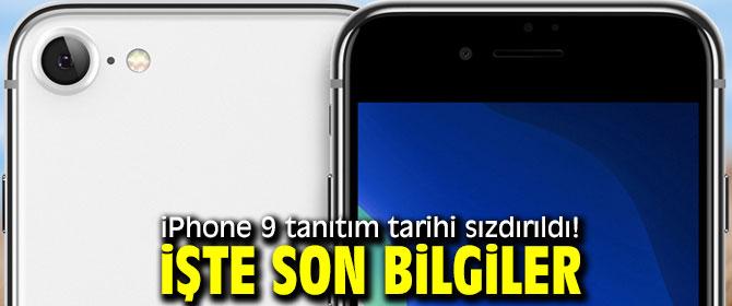 iPhone 9 tanıtım tarihi!