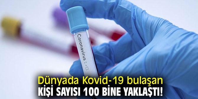 Dünyada Kovid-19 bulaşan kişi sayısı 100 bine yaklaştı!