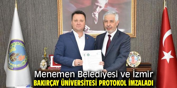 Menemen Belediyesi ve İzmir Bakırçay Üniversitesi protokol imzaladı