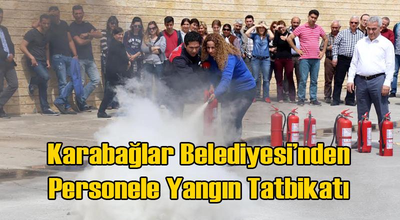 Karabağlar'da Belediye Personeline Yangın Eğitimi