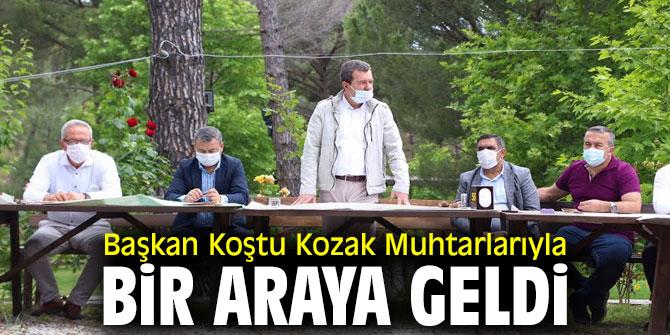 Başkan Koştu Kozakta Muhtarlarla Bir Araya Geldi