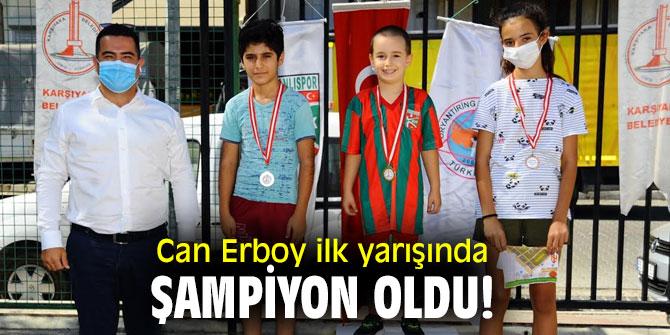 Can Erboy ilk yarışında şampiyon oldu!