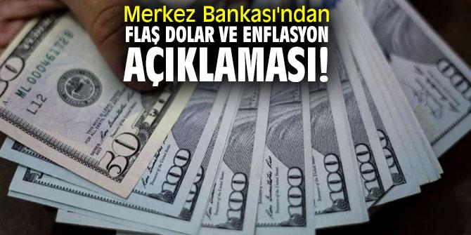 Türkiye Cumhuriyet Merkez Bankası'ndan flaş dolar ve enflasyon açıklaması!