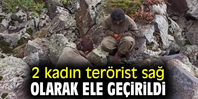 İçişleri Bakanlığı açıkladı! 2 kadın terörist sağ olarak ele geçirildi