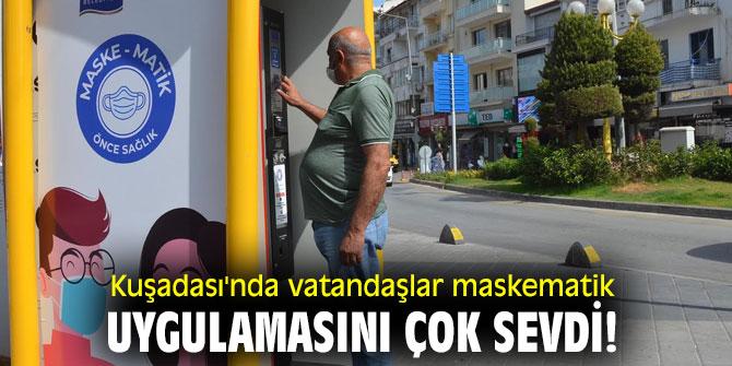 Kuşadası'nda vatandaşlar maskematik uygulamasını çok sevdi!