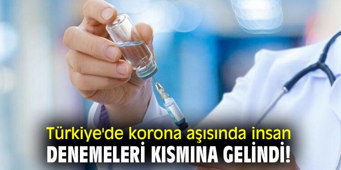 Türkiye'de korona aşısında insan denemeleri kısmına gelindi!