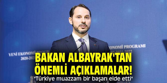 """Bakan Albayrak'tan önemli açıklamalar! """"Türkiye muazzam bir başarı elde etti"""""""
