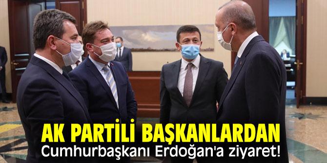 AK Partili Başkanlardan Cumhurbaşkanı Erdoğan'a ziyaret!
