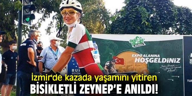 İzmir'de kazada yaşamını yitiren bisikletli Zeynep'e anıldı!
