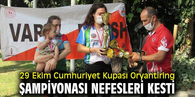 29 Ekim Cumhuriyet Kupası Oryantiring Şampiyonası nefesleri kesti