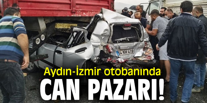Aydın-İzmir otobanında can pazarı! 12 kişi yaralandı!