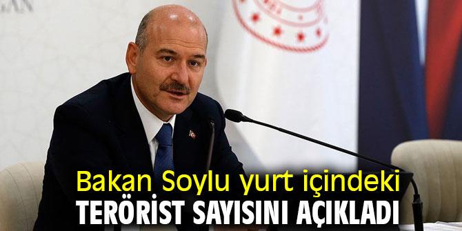 Bakan Soylu yurt içindeki terörist sayısını açıkladı