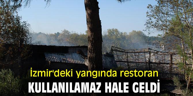 İzmir'deki yangında restoran kullanılamaz hale geldi