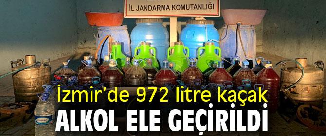 972 litre kaçak alkol ele geçirildi