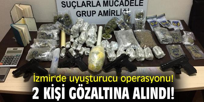 İzmir'de uyuşturucu operasyonu! 2 kişi gözaltına alındı!