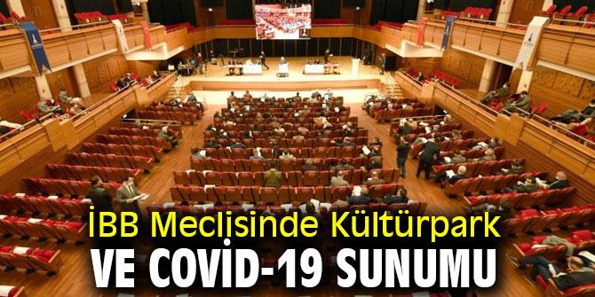 İBB Meclisinde Kültürpark ve Covid-19 sunumu