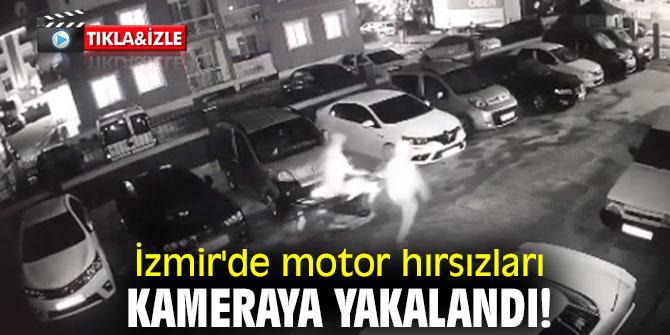 İzmir'de motor hırsızları kameraya yakalandı!