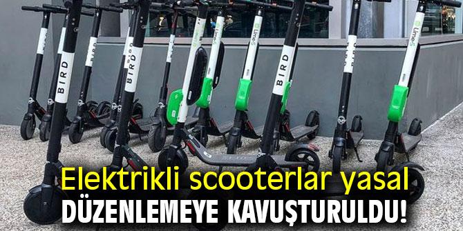 Elektrikli scooterlar yasal düzenlemeye kavuşturuldu!