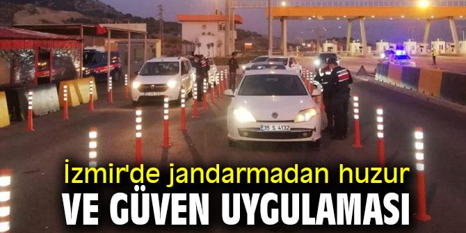 İzmir'de jandarmadan huzur ve güven uygulaması